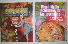 2 ART JOURNALING bks: Mixed Media Techniques & Creative Awakenings