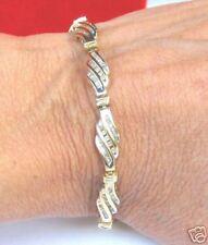 10K Solid Gold 1 ct. carat diamond bracelet
