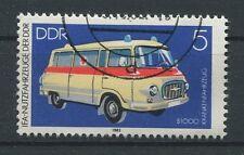 DDR ABART 2744 DD KRANKENWAGEN 1982 DOPPELDRUCK!! ERROR DOUBLE PRINT!!! a5711
