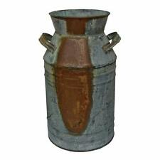 "New Milk Can - 7"" Galvanized Finish - Country Rustic Primitive Jug Vase"