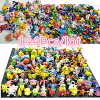 New 144Pcs/lot Pokemon Cute 2-3cm  Pikachu Mini Figures Collection PVC Toys Kids