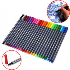 24 Colors 0.4mm Fineliner Pens Color Fineliners Set Art Painting Markers Pen Kit