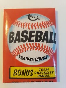 1974 topps baseball Wax Pack
