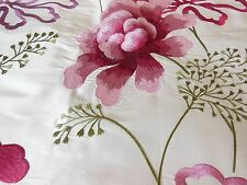 Manuel Canovas embroidered silk fabric sample - Sophie