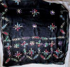 grand ETOLE - Echarpe soie mousseline  BRODE - TBEG foulard Scarf 110 x 220 cm