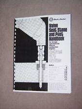 Black & Decker Valve Seat Grinder Stone Pilot Handbook