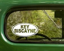 2 KEY BISCAYNE FLORIDA DECAL Oval Sticker for Mug Car Laptop Window Bumper