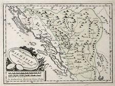 Bosnien Herzegowina Herzegowina Original Kupferstich Landkarte Reilly 1789