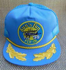 VTG 1998 Sun 'n Fun EAA Airplane Fly-In Baseball Trucker Mesh Cap Hat Snapback
