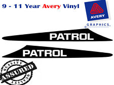 PATROL decal to suit NISSAN Patrol GU 99-07 2 FIN Bonnet Scoop Sticker 4X4
