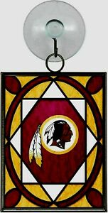 WASHINGTON REDSKINS STAINED GLASS SUN CATCHER/ORNAMENT NEW & OFFICIALLY LICENSED