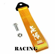 JDM High Strength MUGEN POWER Tow Strap for Front Rear Bumper Towing Hook-Gold