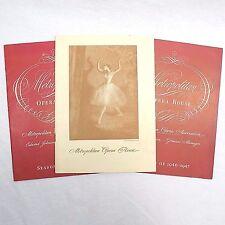Metropolitan Opera House Program Booklet Lot Of 3 Vintage Ballet