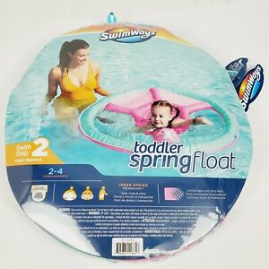 """SwimWays """"Step 2"""" Toddler Pink Girls Spring Float Sun Canopy Ages 2-4 years NIP"""