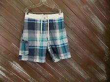 AMERICAN EAGLE Surfer Shorts Outfitters Blue Plaid Men's NWT $39.50