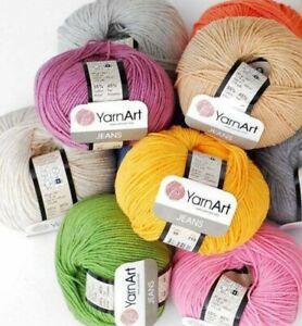 Yarn Art Jeans 50g Single Balls Cotton Acrylic Knitting Crochet Wool Yarn