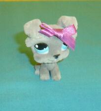 Littlest Pet Shop Fuzzy Gray Schnauzer Puppy Dog #1006 with Blue Eyes