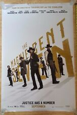 MAGNIFICENT SEVEN w/Denzel Washington 27x40 Double Sided ORIGINAL Movie Poster