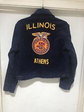 New listing Vintage 80s Ffa Agricultural Education Illinois Corduroy Farm Jacket Zip Up 38