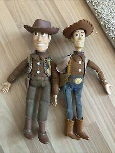 Vintage Disney store Woody Pixar Toy story Figures Lot Of 2
