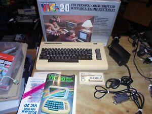 Commodore Vic-20 Personal Computer w/ Original Box Cords Manual game
