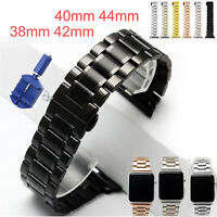 Stainless Steel Link Bracelet For Apple Watch Band Series 5 4 3 2 40/44mm Strap