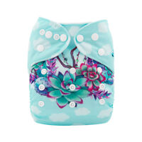 ALVA Baby Cloth Diaper One Size Girl Reusable Pocket Nappy +1 Bamboo Insert