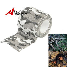 4.5M Camouglage White Camo Stretch Wrap Tape Bandage for Rifle/Gun Flashlight