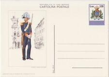 SAN MARINO CARTOLINA POSTALE 120 LIRE 20/12/1979 GRADUATO GUARDIA - NUOVA C46