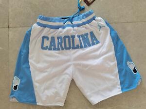 New North Carolina White Light Blue with Pockets Basketball Shorts Size: S-XXL