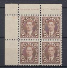 #232 Mufti Plate block #10 UL VF MH Cat $112 Canada mint George VI