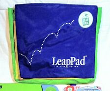 Leap Frog Leap Pad Learning System Blue 4 Cartridges 3 Books Storage Carry Bag