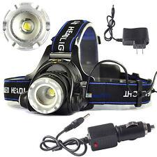 8000LM XML T6 LED 18650 Adjustable Focus Headlamp Headlight ZOOM+2PCS Chargers