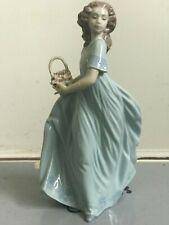 Lladro Girl (Large Basket w/ Flowers)