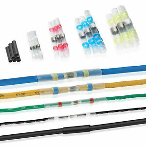 200Pcs Solder Sleeve Heat Shrink Tubing Waterproof Butt Wire Terminal Connector