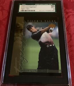 2001 upper deck Tiger Woods back to the top at Bayhill SGC Grade 9 Card