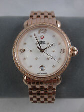 NEW Michele CSX 36 Quilted Mosaic Diamond Rose Gold Ladies Watch MW03R01B4974