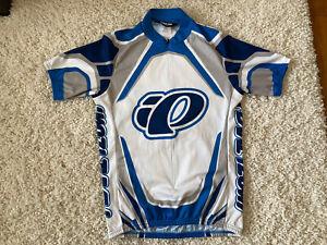 Vintage Cycling Jersey Pearl Izumi White Blue Medium M 90's Road MTB Made USA