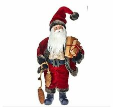"18"" Santa Clause Standing With Packages Holiday Christmas Decor H205795 QVC"