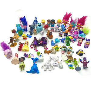Lot of 70 Mini Figures Disney Toy Story Princess Trolls Frozen Pooh Cake Toppers
