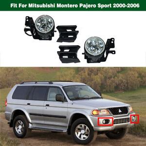 Bumper Fog Lights Lamps w/Bezel For Mitsubishi Montero Pajero Sport 2000-2006