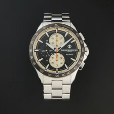 Baume & Mercier Clifton Automatic Chronograph Black Dial Steel Men's Watch 10435