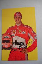MICHAEL SCHUMACHER SIGNED 2006 FERRARI OFFICIAL PORTRAIT 13x19,5 cm CARD RARE CS