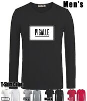 Yeezy Pigalle Design Long Short Sleeves Men's Boy's T-Shirt Graphic Tee Shirt