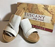 Tuscany By Easy Street Adagio Mid Heel Slide Womens Sandals Mid Heel  Mid Heel