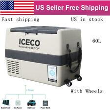 Iceco Portable Refrigerator Freezer Car Fridge Cooler Ac Dc W/Secop Compress 60L