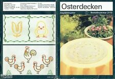 Sticken Osterdecken Abplättmuster Abbügelmuster Anleitung Muster Ostern DDR 1984