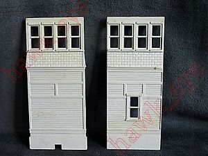 Plasticville Switch Tower 2 Light Gray Sides O-S Scale No Glue