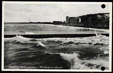 AK- Ostseebad Heiligenhafen, am Strand,1940, gelaufen,SW, leider gelocht