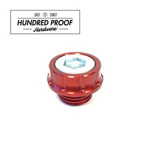HUNDRED PROOF HARDWARE Oil Cap Honda Civic Acura Integra D15b B16a K20a [Red]